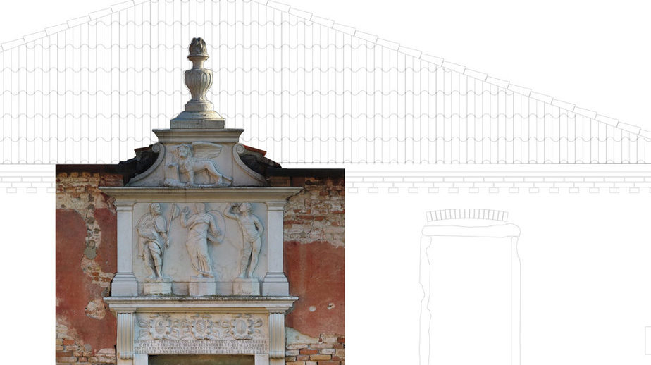restituzione grafica rilievo tezon grande - dettaglio portale ingresso